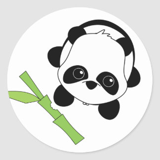 Just a Bite of Bamboo Classic Round Sticker