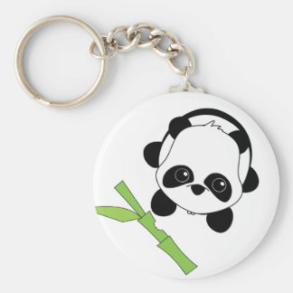 Just a Bite of Bamboo Key Chain
