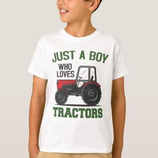 Just a Boy Who Loves Tractors Farm Kids Birthday T-Shirt