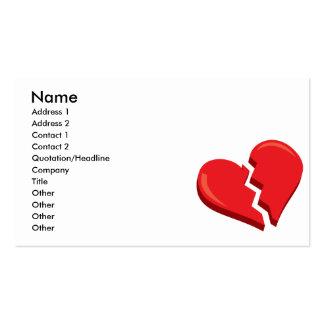 just a broken heart business cards