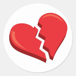 just a broken heart classic round sticker