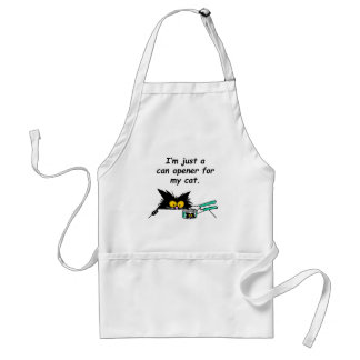 JUST A CAN OPENER FOR MY CAT ADULT APRON