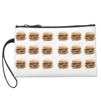 Just a classic hamburger wristlet purses