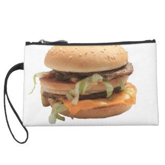 Just a classic hamburger wristlet clutch