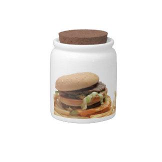 Just a classic hamburger candy jar