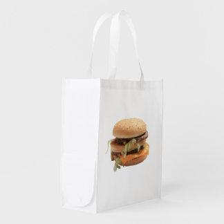 Just a classic hamburger grocery bag