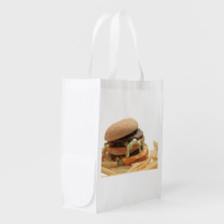 Just a classic hamburger grocery bags