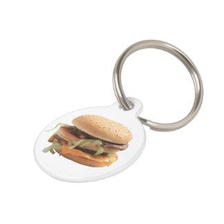Just a classic hamburger pet tag