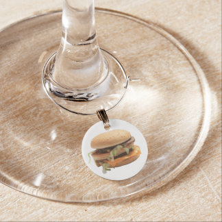 Just a classic hamburger wine charms
