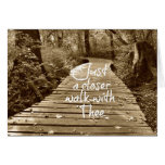 Just a Closer Walk with Thee Greeting Card