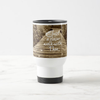 Just a Closer Walk With Thee Hymn Travel Mug