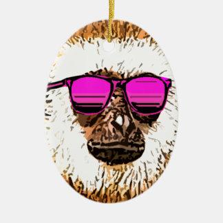 just a cool Monkey Ceramic Ornament