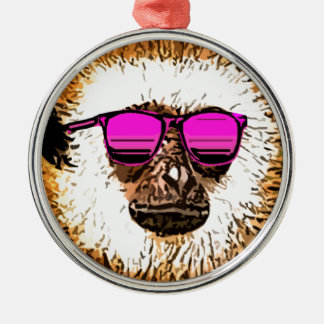 just a cool Monkey Metal Ornament