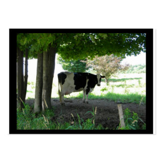 Just a Cow chillin under trees with grass Large Business Cards (Pack Of 100)