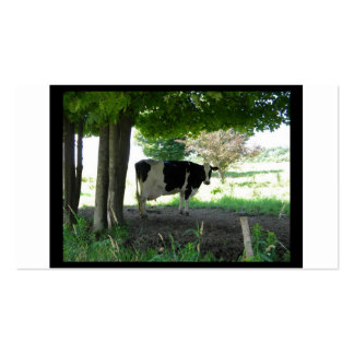 Just a Cow chillin under trees with grass Double-Sided Standard Business Cards (Pack Of 100)