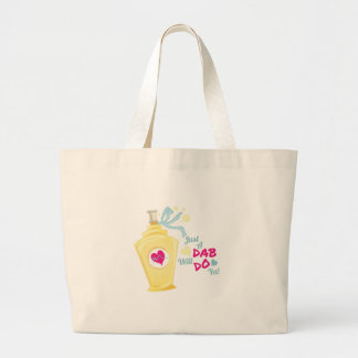 Just A Dab Large Tote Bag