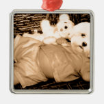 Just a fat little baby puppy ornament