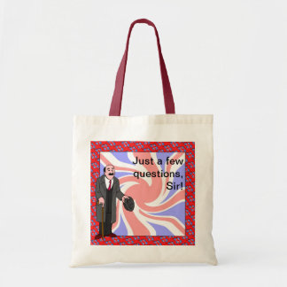 Just a few questions, Sir! Tote Bag