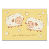 Just a few Thank Ewes (Thank Yous) Sheep Card