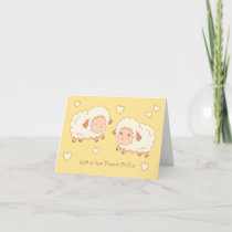 Just a few Thank Ewes (Thank Yous) Sheep Thank You Card