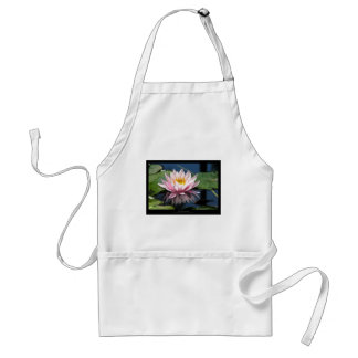Just a flower – Pink waterlily flower 007 Adult Apron