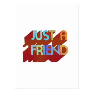 Just A Friend Postcard