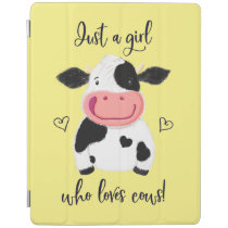 Just A Girl Who Loves Cows! Hearts And Holstein iPad Smart Cover