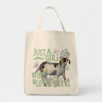 Just a Girl Who Loves Goats Tote Bag