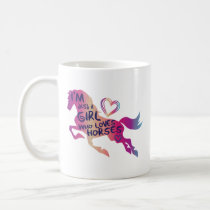 Just A Girl Who Loves Horses Coffee Mug Horse