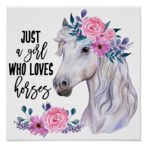 Just a Girl who Loves Horses, Poster Paper (Matte)