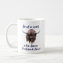 Just A Girl Who Loves Scottish Highland Cows Coffee Mug