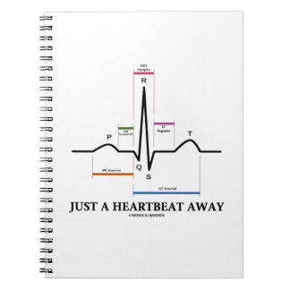Just A Heartbeat Away (EKG/ECG Humor) Note Book