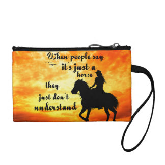 Just a horse people do not Understand Change Purse