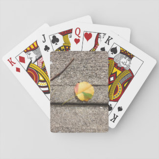 Just a leaf playing cards