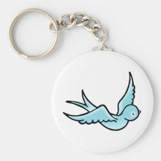 Just a Little Blue Bird Keychain