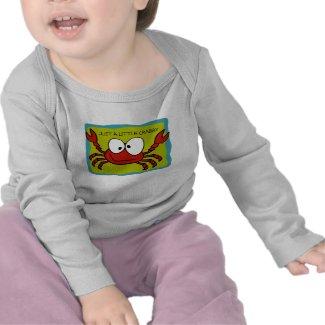 Just a Little Crabby Kids T-Shirt shirt