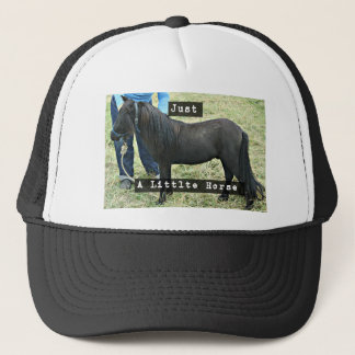 Just a little horse trucker hat