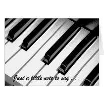 Just A Little Note Music Get Well Card