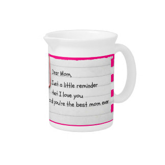 Just a Mother's Day Reminder Pitcher