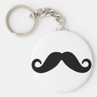 just a mustache keychain