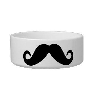 Just a Mustache Cat Food Bowl