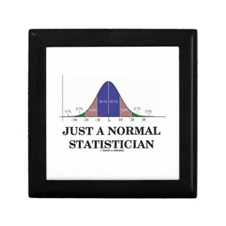Just A Normal Statistician (Bell Curve Humor) Gift Box