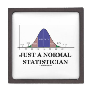 Just A Normal Statistician (Bell Curve Humor) Jewelry Box