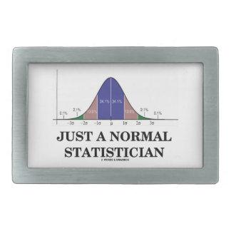 Just A Normal Statistician (Bell Curve Humor) Rectangular Belt Buckle