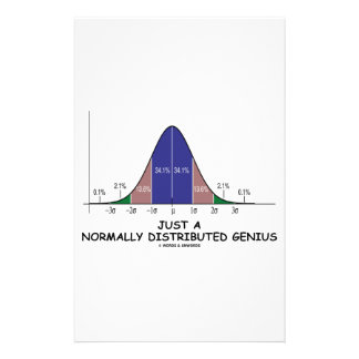 Just A Normally Distributed Genius Bell Curve Custom Stationery