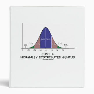 Just A Normally Distributed Genius (Stats Humor) 3 Ring Binder