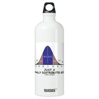 Just A Normally Distributed Genius (Stats Humor) Aluminum Water Bottle