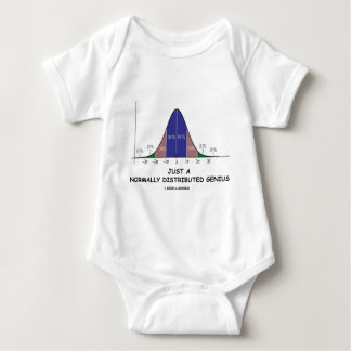 Just A Normally Distributed Genius (Stats Humor) Baby Bodysuit