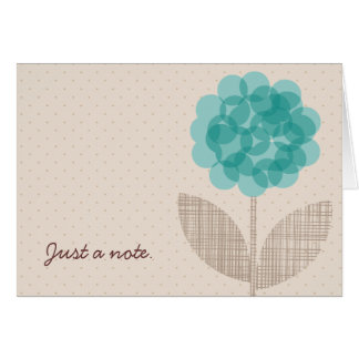 Just A Note Blue Flower Card