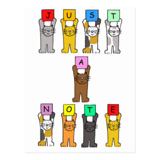 Just a note, cartoon cats. post cards